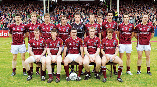 The victorious Galway team that recaptured the Connacht title at McHale Park, Castlebar last Sunday.