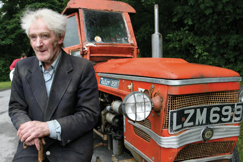 Martin Kelly with the tractor that will be on show on Sunday. Photo: Mike Shaughnessy