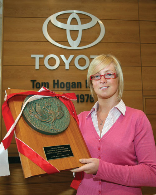Flying the Irish flag proudly will be Nicola Mannion of Tom Hogan Motors