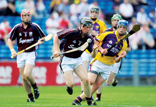 Galway minor Declan Connolly in action from yesterday's win over Wexford in Thurles.