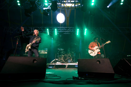 The Sawdoctors in action last Sunday night — Pic: Sean McCormack