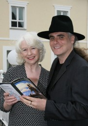 Actress Marie Mullen with Paul Fahy Artistic director of the Galway Arts Festival at the opening reception of the Galway Arts Festival in the Salthill Hotel on Monday. Photo:-Mike Shaughnessy