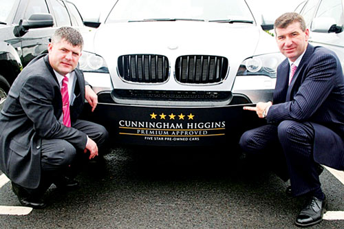 Pictured is Niall Cunningham and Joe Higgins in the Ballybrit showroom.
