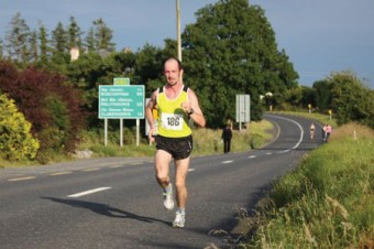The loneliness of the long distance runner: Race winner Robert Matthews (Dunshaughlin AC) heads for the line in the Balla 10km race last weekend.