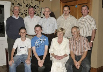 Pictured in the Shebeen Bar at the Balla Golf Club Junior Scramble Presentations sponsored by Rowland Roofing, Front L-R: Lee Brennan gross, Gary Hoban 1st, Mary Neary Lady Captain, Sean Burke 2nd, Back L-R: Dermot McMahon Men's Captain, Billy Gallagher 3rd, Pat Jordan 4th, Ray Mannion Hole in One at the 16th, Pat Walsh (sponsor). Photo : Ken Wright Photography 2008.