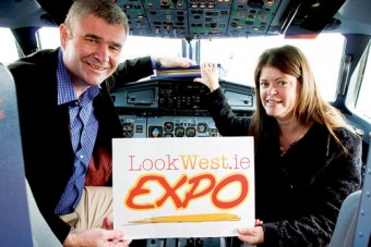 Gillian Buckley, CEO of the Western Development Commission, and Pádraig Ó Ceidigh, Chairman Aer Arann announcing the LookWest.ie Expo which will take place in Dublin on Thursday 18th September.
