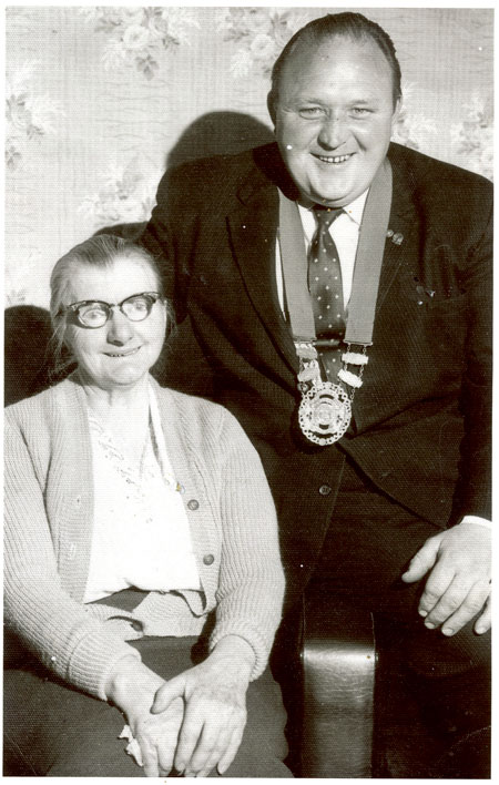 Pictured here is John Keenehan with his first chain of office in 1972 alongside Mary Ellen Broderick, aunt of his good friend Jimmy and niece of Athlone's first ever TD, Harry Broderick, who served as a Labour TD between the years of 1927 and 1932.