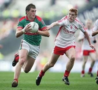 Break on through: Aidan O'Shea makes a break for it in the All Ireland minor final  against Tyrone. Photo: Sportsfile