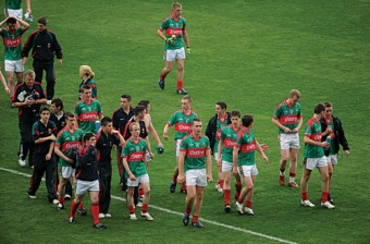 A lot done, a lot more to do: The Mayo minor team leave the field after drawing with Tyrone in the All Ireland final last weekend.  Photo: Sportsfile