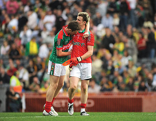 Down but not out: Robert Hennelly and Shane Nalley in reflection after the full time whistle in last Sunday's All Ireland Final. Photo: Sportsfile