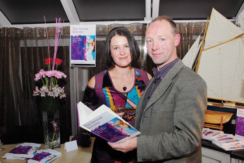 Diarmuid Lavelle and his wife Naomi pictured at his book launch.