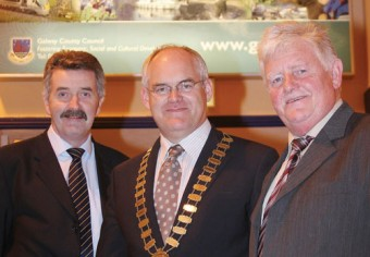Picture at the launch are Frank Dawson, Mayor Peter Feeney, and Cllr Donal Carey.