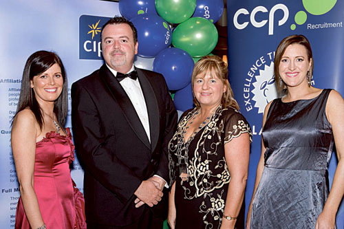 Pictured above at the event are Michelle Kilcar, CCP Recruitment , Phil Cawley Today FM, Jacqueline O'Dowd chairperson of CIPD, and Roisin McNamara, CCP Recruitment.