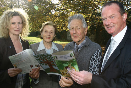 Marie Donghue of Failte Ireland West, Lois and Sean Tobin ( Friends of Coole), and Paul Connolly assistant director of the National Park & Wildlife Services at the launch.