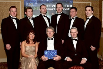 Last year's ICT Company of the Year Cisco pictured with ITAG's Caroline O'Neill at the awards. Cisco is nominated again. Can they make it two in a row? All will be revealed tomorrow night.