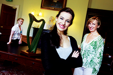 Rachel Kelly in foreground with Una Hunt (right) and Raphaela Mangan (left).
