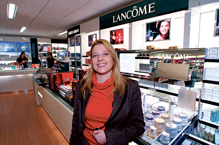 Dr Audrey Kinahan, pictured in the costemtic department of University Pharmacy, Galway — confirms that retailers are adapting to fit in with the new requirements of cost-conscious customers.