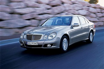 Pictured is the current model Mercedes-Benz  E-Class.