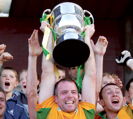 Castledaly end the long wait to capture their first ever Senior Crown. Photo: John O'Brien