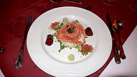 Gravadlax at Renvyle.