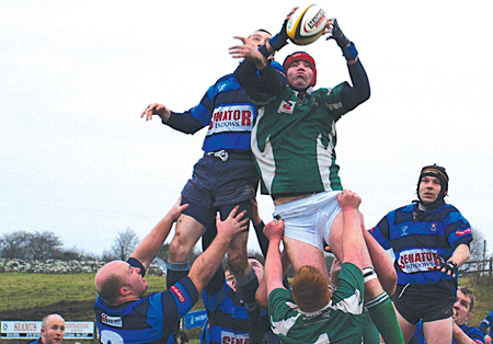 High stakes: Castlebar battle for possession with Richmond from a line-out in last weekend's All Ireland Junior Cup. They will be hoping to get back on the winning trail this weekend.