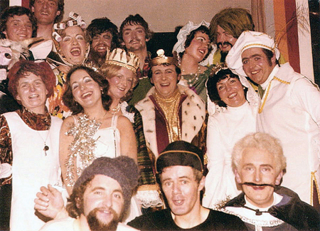 Backstage with Jack and The Beanstalk in 1980.