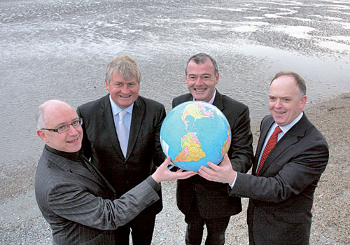 Pictured launching the 2009 programme are (LtoR) Kevin Dawson, RTÉ, Denis O'Brien, Digicel Group and Chairman of the Judging Panel, Enda Kelly, Partner-in-charge, Ernst & Young Entrepreneur Of The Year® programme and Liam Kavanagh, The Irish Times.