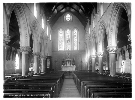 St Joseph's Parish Church one hundred  years ago - now refurbished.
