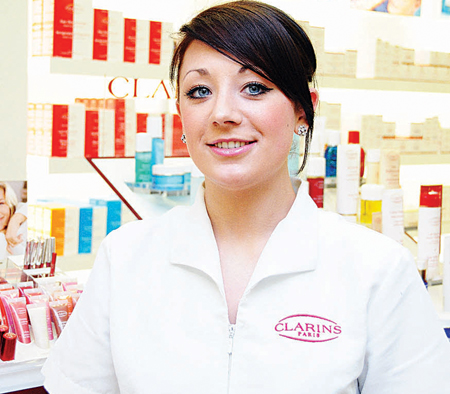 Elaine Mulcair, Clarins salon therapist, University Late Night Pharmacy.