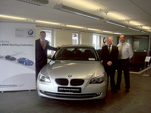 From L to R: Welcoming the Sterling Collection are: Alex Dalgarno, BMW sales