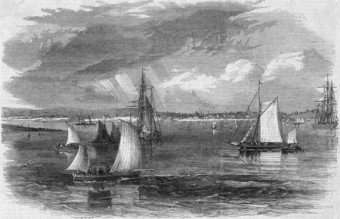 Sails in the Bay: The Illustrated London News 1858, shows Galway Bay full of sails. We will see the same again when the Volvo Ocean Race arrives shortly.
