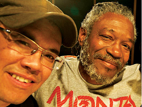 Ashley Beedle (left) and Horace Andy.