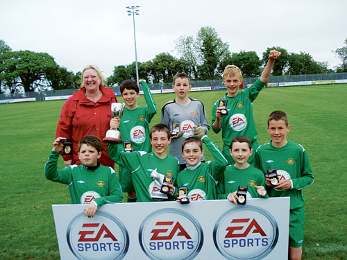 The victorious Derrywash NS side who won the All Ireland national schools soccer five-a-side last week.