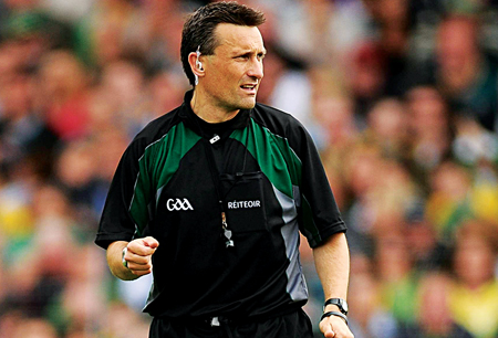Referee Maurice Deegan.  Photo: Stephen McCarthy / SPORTSFILE