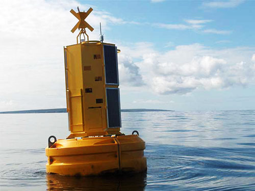 Smart buoy — the source of all the data for the smart water, pictured in Galway Bay.