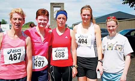 Mayo AC/Fit4Life finishers in Maugherow 10k: Ann Murray, Chris Clarke, Michelle Reynolds, Sarah Syron, and Breege Staunton.