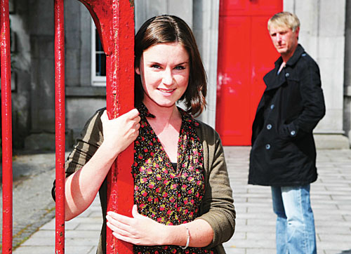 Judith Roddy and Stuart Graham arriving at Nuns Island Theatre for the first day of rehearsals for the Galway Arts Festival show Blackbird.  Pic:- Mike Shaughnessy