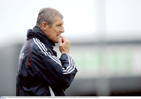 11 July 2009; Westmeath manager Tomas O Flaharta during the game. GAA Football All-Ireland Senior Championship Qualifier, Round 2, Westmeath v Meath, Cusack Park, Mullingar, Co. Westmeath. Picture credit: Paul Mohan / SPORTSFILE