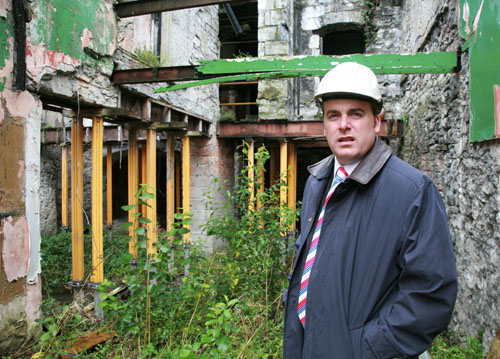 Cllr Michael Crowe in the old Taffes Shop on Williamsgate Street.