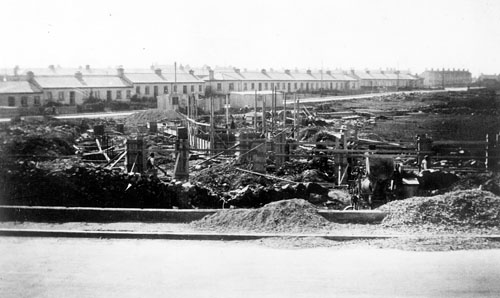 Building commences on the Fr Griffin Road site in 1938.