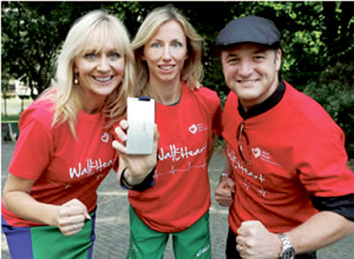 World silver medallist Olive Loughnane launches Irish Heart Foundation walking campaign with Boyzone's Mikey Graham and TV presenter Miriam O'Callaghan.
