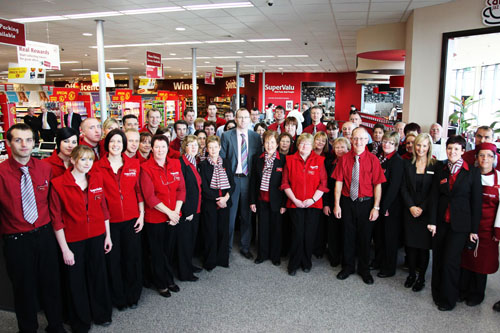 McInerney's staff at new store SuperValu store which opened recently in Loughrea.