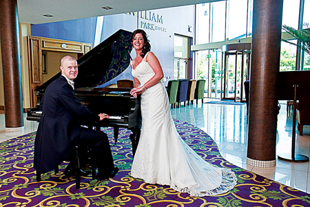 Nicola Fallon and Paul Flynn are pictured on their wedding day in the McWilliam Park Hotel, Claremorris.