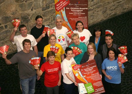 Charity representatives celebrate the launch of the event.
