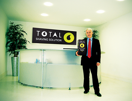 Tom Murphy pictured with Total Shaving Solution.