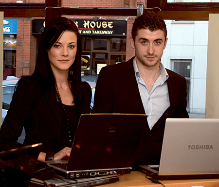 Miriam McNabb and Evan Doherty of Creative IT, Mullingar.