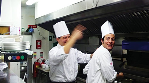 Head chef Paulo and sous chef Fabiano at Basilico.