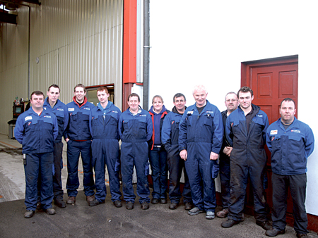 Martin Molloy and his dedicated team of workers.
