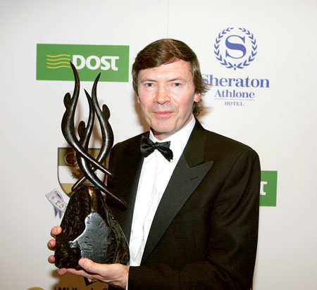 Owen Killian accepting his award as Midlands Gateway Chamber Ambassador of the Year 2009/10