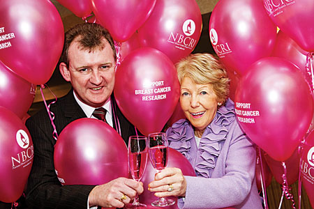John Ryan (Ardilaun hotel) and Anna O'Coinne, (chairperson NBCRI) at the launch of the NBCRI Valentine's Ball which takes place in The Ardilaun on Saturday February 13.  Photo: Martina Regan